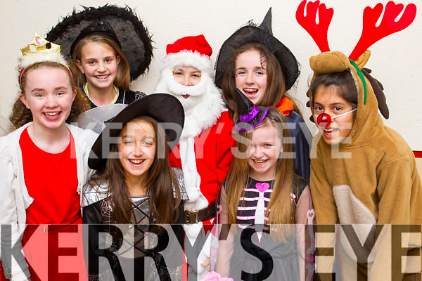 Students from Presentation Primary School, Tralee in rehearsals for Santa goes to the Carribbean on Tuesday morning were l-r: Saoirse O'Shea Rachel Hanafin Diana Baftijari, Victoria Pula, Clara Callaghan, Roisin Buckley  and Larisa Vichante.