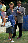 'ENGLISH VILLAGE FETE', VILLAGERS IN THEIR BEST SUMMER CLOTHES, ATTEND THE AUGUST VILLAGE FETE IN THE GROUNDS OF BOUTHROP HOUSE.