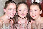 MUSICAL: Mary Rose Breen, Ciara Dolan and Niamh Hurley from the Oliver Hurley Stage School, singers in Musical Moments on Friday night at Siamsa Tire, Tralee..
