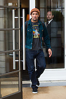 Ben Harper coming out of his hotel in Brussels - Exclusive - Belgium