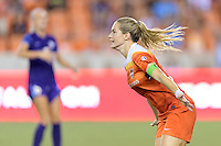 Houston, TX - Saturday Sept. 03, 2016: Kealia Ohai celebrates scoring during a regular season National Women's Soccer League (NWSL) match between the Houston Dash and the Orlando Pride at BBVA Compass Stadium.