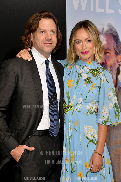 LOS ANGELES, CA. September 13, 2018: Jason Sudeikis &amp; Olivia Wilde at the premiere for &quot;Life Itself&quot; at the Cinerama Dome.<br /> Picture: Paul Smith/Featureflash