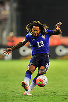 Jermaine Jones of the US kicks the ball towards the goal. USA defeated Peru 2-1 during a Friendly Match at the RFK Stadium in Washington, D.C. on Friday, September 4, 2015.  Alan P. Santos/DC Sports Box