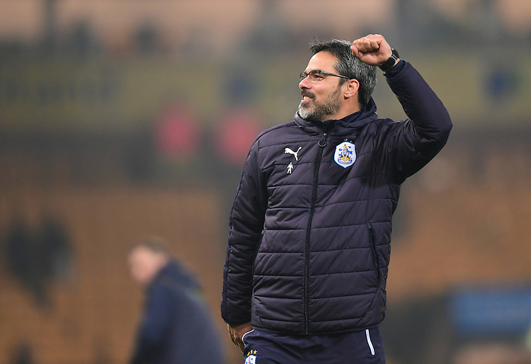 Huddersfield Town manager David Wagner celebrates the win at the end of the game<br /> <br /> Photographer Chris Vaughan/CameraSport<br /> <br /> The EFL Sky Bet Championship - Norwich City v Huddersfield Town - Friday 16th December 2016 - Carrow Road - Norwich<br /> <br /> World Copyright &copy; 2016 CameraSport. All rights reserved. 43 Linden Ave. Countesthorpe. Leicester. England. LE8 5PG - Tel: +44 (0) 116 277 4147 - admin@camerasport.com - www.camerasport.com