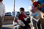A man who recently crossed illegally to the United States and was returned by the Border Patrol receives medical attention at a facility operated by Tucson-based No More Deaths in Nogales, Sonora, Mexico, on Thursday, Jan. 31, 2008. The man had not eaten in three days. Nogales and the surrounding desert is one of the main points of illegal crossings into the United States.