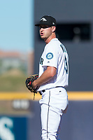 Peoria Javelinas relief pitcher Matt Walker (31), of the Seattle Mariners organization, gets ready to deliver a pitch during an Arizona Fall League game against the Scottsdale Scorpions at Peoria Sports Complex on October 18, 2018 in Peoria, Arizona. Scottsdale defeated Peoria 8-0. (Zachary Lucy/Four Seam Images)