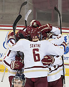 Steven Santini (BC - 6) - The Boston College Eagles defeated the visiting St. Francis Xavier University X-Men 8-2 in an exhibition game on Sunday, October 6, 2013, at Kelley Rink in Conte Forum in Chestnut Hill, Massachusetts.