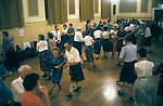 Scottish Country Dance Craigie church Scottish country dance class and demonstration. Perth Scotland 1989. 1980s Scotland Uk