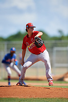GCL Cardinals relief pitcher Chris Hunt (37) delivers a pitch during a game against the GCL Mets on August 6, 2018 at Roger Dean Chevrolet Stadium in Jupiter, Florida.  GCL Cardinals defeated GCL Mets 6-3.  (Mike Janes/Four Seam Images)