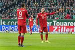 01.12.2018, Weser Stadion, Bremen, GER, 1.FBL, Werder Bremen vs FC Bayern Muenchen, <br /> <br /> DFL REGULATIONS PROHIBIT ANY USE OF PHOTOGRAPHS AS IMAGE SEQUENCES AND/OR QUASI-VIDEO.<br /> <br />  im Bild<br /> <br /> Franck Ribery (FC Bayern Muenchen #07)<br /> Robert Lewandowski (FC Bayern Muenchen #09)<br /> Gestik, Mimik,<br /> <br /> Foto &copy; nordphoto / Kokenge
