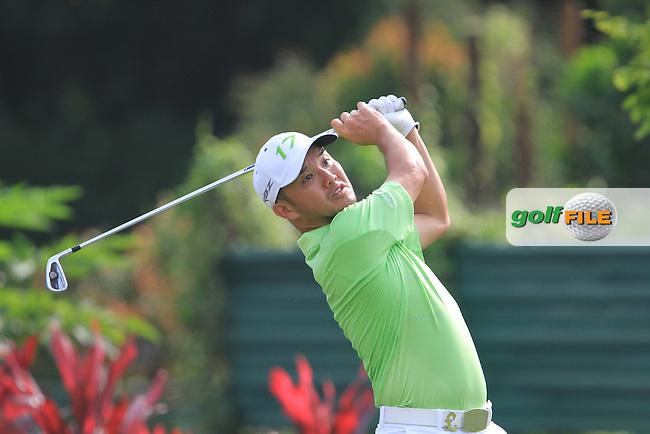 Chong C M (MAs) on the 8th on Day 2 of the Maybank Malaysian Open 2012 at Kuala Lumpur Golf and Country Club, Kuala Lumpur, Malaysia...(Photo Jenny Matthews/www.golffile.ie)