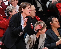 STANFORD, CA - January 21, 2012: Stanford Cardinal's Tara VanDerveer during Stanford's 65-47 victory over Washington at Maples Pavilion.