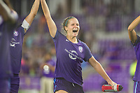 Orlando, FL - Tuesday August 08, 2017: Maddy Evans celebrates during a regular season National Women's Soccer League (NWSL) match between the Orlando Pride and the Chicago Red Stars at Orlando City Stadium.