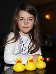 Holly Gallagher pictured at the Termonfeckin Celtic duck race. Photo: Colin Bell/pressphotos.ie