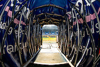 The tunnel during the Sky Bet League 2 match between Wycombe Wanderers and Luton Town at Adams Park, High Wycombe, England on the 21st January 2017. Photo by Liam McAvoy.