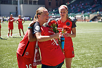 Portland, OR - Saturday August 05, 2017: Emily Sonnett, Girl of the Game during a regular season National Women's Soccer League (NWSL) match between the Portland Thorns FC and the Houston Dash at Providence Park.