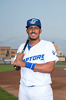 Ogden Raptors infielder Jefrey Souffront (29) poses for a photo prior to a Pioneer League game against the Great Falls Voyagers at Lindquist Field on August 23, 2018 in Ogden, Utah. The Ogden Raptors defeated the Great Falls Voyagers by a score of 8-7. (Zachary Lucy/Four Seam Images)