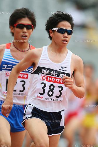 Tetsuya Yoroizaka, <br /> JUNE 9, 2013 - Athletics : <br /> The 97th Japan Track &amp; Field National Championships <br /> Men's 5000m Final <br /> at Ajinomoto Stadium, Tokyo, Japan. <br /> (Photo by YUTAKA/AFLO SPORT)