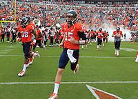 Virginia quarterback Matt Johns (15) during the game in Charlottesville, VA. Virginia lost to UCLA 28-20. Photo/Andrew Shurtleff