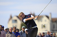 Thomas Plumb (GB&I) on the 2nd tee during Day 2 Singles at the Walker Cup, Royal Liverpool Golf CLub, Hoylake, Cheshire, England. 08/09/2019.<br /> Picture Thos Caffrey / Golffile.ie<br /> <br /> All photo usage must carry mandatory copyright credit (© Golffile | Thos Caffrey)