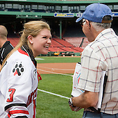 "Annie Hogan (Northeastern - Co-Captain), John ""Jocko"" Connolly (Boston Herald) - A press conference hosted by the Hockey East Association, the Boston Red Sox and Fenway Sports Group was held on Thursday, August 20, 2009, at Fenway Park in Boston, MA, to announce that there would be a Hockey East college hockey doubleheader on Friday, January 8, 2010, held on the ice that will be used for the January 1, 2010 NHL Winter Classic.  The afternoon (4:00 pm EST) match will be between the Northeastern University Huskies (home team) and University of New Hampshire Wildcats women's teams while the evening (7:30 pm EST) match will be between the Boston College Eagles (home team) and the Boston University Terriers men's teams."