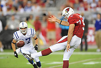 Sept. 27, 2009; Glendale, AZ, USA; Arizona Cardinals punter Ben Graham against the Indianapolis Colts at University of Phoenix Stadium. Indianapolis defeated Arizona 31-10. Mandatory Credit: Mark J. Rebilas-