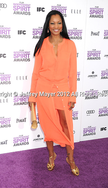 SANTA MONICA, CA - FEBRUARY 25: Garcelle Beauvais arrives at the 2012 Film Independent Spirit Awards at Santa Monica Pier on February 25, 2012 in Santa Monica, California.