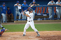 Keegan Maronpot (13) of the Wake Forest Demon Deacons at bat against the Florida Gators in Game Two of the Gainesville Super Regional of the 2017 College World Series at Alfred McKethan Stadium at Perry Field on June 11, 2017 in Gainesville, Florida.  (Brian Westerholt/Four Seam Images)