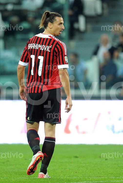 FUSSBALL INTERNATIONAL   SERIE A   SAISON 2011/2012    Juventus Turin - AC Mailand  02.10.2011 Zlatan Ibrahimovic (AC Mailand)