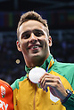 Chad le Clos (RSA), <br /> AUGUST 12, 2016 - Swimming : <br /> Men's 100m Butterfly Medal Ceremony <br /> at Olympic Aquatics Stadium <br /> during the Rio 2016 Olympic Games in Rio de Janeiro, Brazil. <br /> (Photo by Yohei Osada/AFLO SPORT)