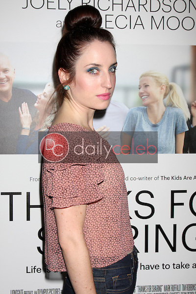 """Zoe Lister-Jones<br /> at the """"Thanks For Sharing"""" Los Angeles Premiere, Arclight, Hollywood, CA 09-16-13<br /> David Edwards/Dailyceleb.com 818-249-4998"""