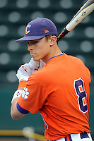 Infielder Richie Shaffer (8) of the Clemson Tigers prior to a game against the South Carolina Gamecocks on Tuesday, March 8, 2011, at Fluor Field in Greenville, S.C.  Photo by Tom Priddy / Four Seam Images