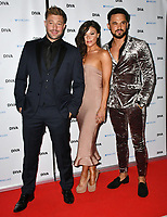 Duncan James, Faye Brookes, Gareth Gates at the DIVA Magazine Awards - Lesbian and bisexual magazine hosts annual awards ceremony at Waldorf Hilton, London, 8th June 2018, England, UK.<br /> CAP/JOR<br /> &copy;JOR/Capital Pictures