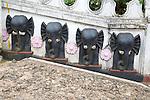Elephant design on Hindu temple, Haputale, Badulla District, Uva Province, Sri Lanka, Asia