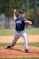 Atlanta Braves pitcher Evan Phillips (26) during a Minor League Spring Training game against the Detroit Tigers on March 19, 2018 at the TigerTown Complex in Lakeland, Florida.  (Mike Janes/Four Seam Images)