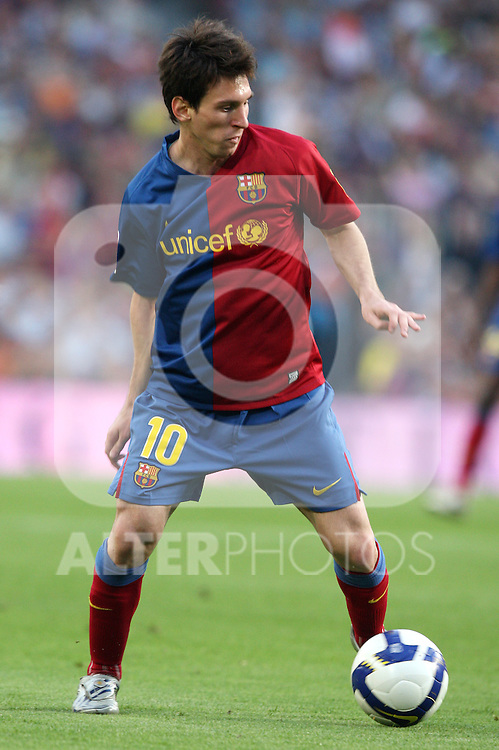 Barcelona's Lionel Messi during La Liga match, May 10, 2009. .(ALTERPHOTOS/Susan Park).