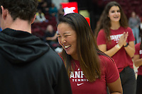 Stanford, CA - January 24, 2020: Janice Shin at Maples Pavilion. The Stanford Cardinal defeated the Colorado Buffaloes in overtime, 76-68.