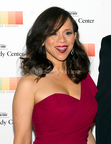 Rosie Perez arrives for the formal Artist's Dinner honoring the recipients of the 38th Annual Kennedy Center Honors hosted by United States Secretary of State John F. Kerry at the U.S. Department of State in Washington, D.C. on Saturday, December 5, 2015. The 2015 honorees are: singer-songwriter Carole King, filmmaker George Lucas, actress and singer Rita Moreno, conductor Seiji Ozawa, and actress and Broadway star Cicely Tyson.<br /> Credit: Ron Sachs / Pool via CNP/MediaPunch