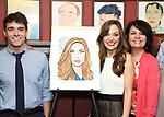 Corey Cott,  Laura Osnes and Beth Leavel attend the Laura Osnes Sardi's Portrait Unveiling at Sardi's on May 12, 2017 in New York City.