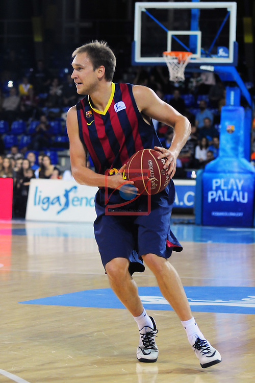 League ACB-Endesa 2014/2015 - Game: 07.<br /> FC Barcelona vs Valencia Basket Club: 76-57.<br /> Brad Oleson.