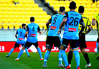 Action from the A-League football match between Wellington Phoenix and Sydney FC at Westpac Stadium in Wellington, New Zealand on Saturday, 23 December 2017. Photo: Dave Lintott / lintottphoto.co.nz