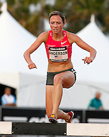 Lindsey Anderson finished 2nd. in the 3000m Steeplechase in a time of 9:37.88 at the Adidas Track Classic 2009 held at the Home Depot Center, Carson, Ca. on Saturday, May 16, 2009. Photo by Errol Anderson,The Sporting Image.net
