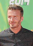 LOS ANGELES, CA- JULY 17: Former soccer player David Beckham attends Nickelodeon Kids' Choice Sports Awards 2014 at Pauley Pavilion on July 17, 2014 in Los Angeles, California.