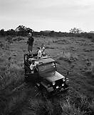 SRI LANKA, Asia, tourists with guide at Udawalawe National Wildlife Park