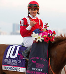 January 25, 2020: #10 Mucho Gusto with jockey Irad Ortiz Jr. on board wins the Pegasus World Cup Invitational at Gulfstream Park Race Track in Hallandale Beach, Florida. Liz Lamont/Eclipse Sportswire/CSM