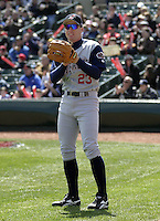 April 10, 2004:  /of/ Gabe Gross (23) of the Syracuse Sky Chiefs, Class-AAA International League affiliate of the Toronto Blue Jays, during a game at Frontier Field in Rochester, NY.  Photo by:  Mike Janes/Four Seam Images