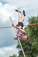 Jackson senior Sierra Maddox tries to clear the bar during the Class 4 pole vault at the 2014 MSHSAA Class 3-4 State Track and Field Championships, Saturday, May 31, in Jefferson City, MO.
