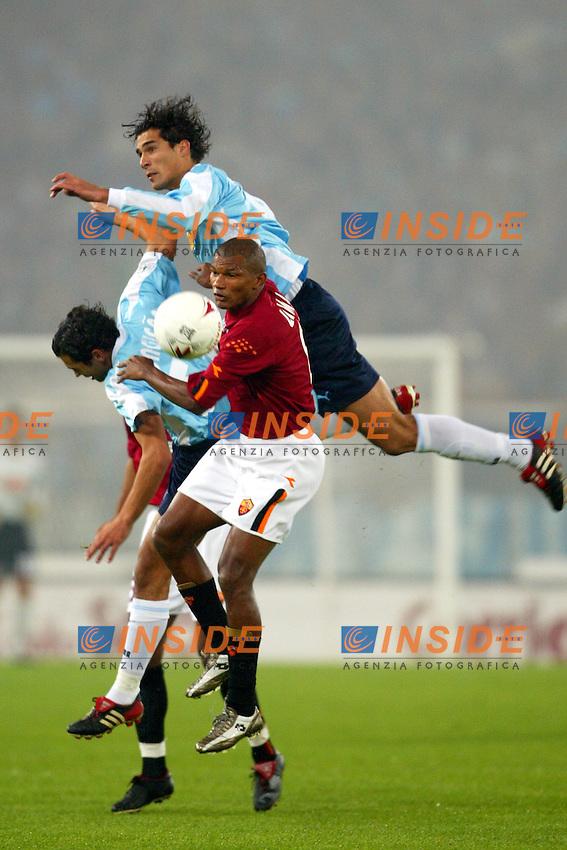 Roma 9/11/2003 <br /> Roma Lazio 2-0 <br /> Bernardo Corradi, Sergio Conceicao (Lazio) e Francisco Lima (Roma)<br /> Foto Andrea Staccioli Insidefoto
