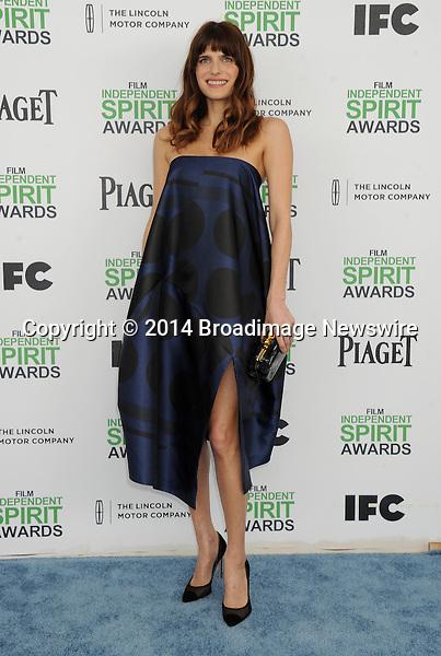LPictured: Lake Bell<br /> Mandatory Credit &copy; Gilbert Flores/Broadimage<br /> 2014 Independent Spirit Awards<br /> <br /> 3/1/14, Santa Monica, California, United States of America<br /> <br /> Broadimage Newswire<br /> Los Angeles 1+  (310) 301-1027<br /> New York      1+  (646) 827-9134<br /> sales@broadimage.com<br /> http://www.broadimage.com