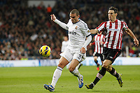Real Madrid CF vs Athletic Club de Bilbao (5-1) at Santiago Bernabeu stadium. The picture shows Pepe and Aritz Aduriz. November 17, 2012. (ALTERPHOTOS/Caro Marin) NortePhoto